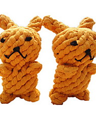Brinquedo Para Cachorro Brinquedos para Animais Brinquedos para roer Brinquedo Para Higiene Oral Coelho Laranja Algodão