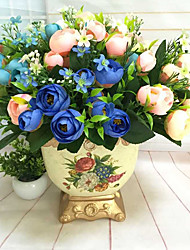 1 Ast andere Camellia Tisch-Blumen Künstliche Blumen 7*7*27