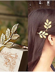 1 Pcs Of High-Grade Alloy Hair Accessories Five Leaves A Word Included Side Clamp Hoop