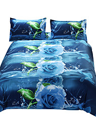 Mingjie 3D Reactive Blue Dream Bedding Sets 4 Pcs for Queen Size Contain 1 Duvet Cover 1 Bedsheet 2 Pillowcases from China