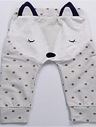 Baby Casual/Daily Print Pants,Cotton Spring Black White Yellow