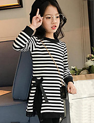 Girl Casual/Daily Striped Patchwork Tee,Cotton Spring Fall Long Sleeve Regular