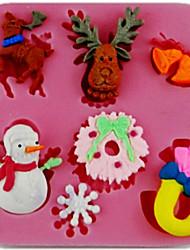 Molde Para Bolo para Candy em botão Para Pão Para Biscoito SiliconeDia dos namorados Dia de Ação de Graças Alta qualidade Casamento