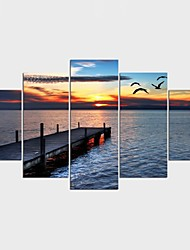 Stretched Canvas Print Landscape Leisure Modern,Five Panels Canvas Any Shape Print Wall Decor For Home Decoration