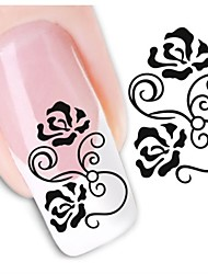 1sheet  Water Transfer Nail Art Sticker Decal XF1450