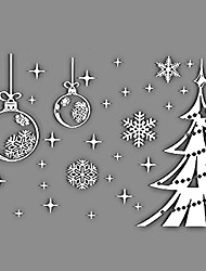 Window Stickers Window Decals Style Snowflake Christmas Tree Window Glass Decoration PVC Window stickers