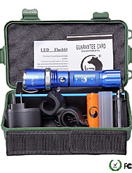 U'King ZQ-940BL-US CREE XML-T6 2000LM 5Mode Flashlight Torch Kit with Attack Head Self-defense Function and Bike Mount