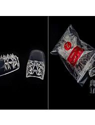 новый продукт кусок кс цветной глазурью ransparent цвета ногти поддельные кусок 500 штук 10 мешочки