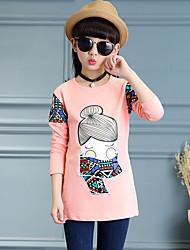 Girl Casual/Daily Print Tee,Cotton Rayon Spring Long Sleeve