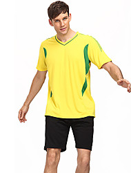 Men's Soccer Clothing Sets/Suits Breathable Comfortable Summer Patchwork Terylene Football/Soccer Yellow Blue