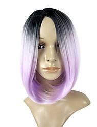 preto para bob roxa do estilo de celebridades mulheres Europeu cabelo do partido azul ombre loira mulite cor do cabelo sintético cinza