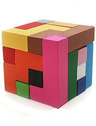 Toys Smooth Speed Cube Magic Board Novelty Magic Cube Rainbow Wood