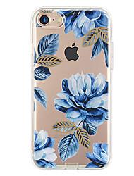 Pour Ultrafine Motif Coque Coque Arrière Coque Fleur Flexible PUT pour Apple iPhone 7 Plus iPhone 7 iPhone 6s Plus/6 Plus iPhone 6s/6