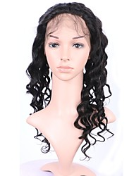360 frontal del cordón del pelo virginal humano 8-20inch buena calidad para las mujeres