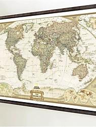1Pcs 70Cm*52Cm Vintage Retro Matte Kraft Paper World Map Antique Poster Wall Sticker Home Decor Not Including Frame