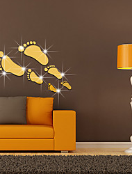 Зеркала Мода Геометрия Наклейки 3D наклейки Зеркальные стикеры Декоративные наклейки на стены,Стекло материалВлажная чистка Съемная