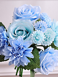 1Pc  A Bundle Sale The Bouquet Of Artificial Silk Flowers Plant Hydrangea Wedding Bouquets Roses  A Bundle Sale