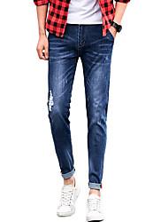 Hommes Grandes Tailles Mince Jeans Chino Pantalon,Vintage simple Street Chic Sortie Décontracté / Quotidien Couleur Pleine Taille Basse