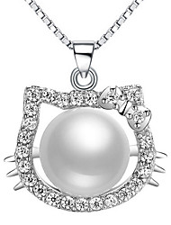 Women's Pendants Pearl Sterling Silver Imitation Pearl Basic Adorable Silver Jewelry Daily Casual 1pc
