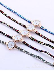 Women's Dress Watch Bracelet Watch Simulated Diamond Watch Imitation Diamond Quartz PU Band Heart shape Charm Blue Grey Pink Purple