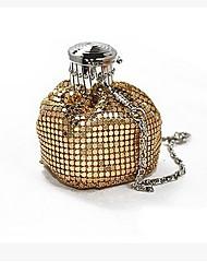 Damen Unterarmtasche PU Schwarz Silber Kaffee Golden