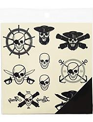 Airbrush-Tattoo Schablonen- fürTeen-Schwarz-PVC-1Stück -17*15*0.3
