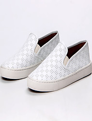 Women's Sneakers Spring Summer Other Cowhide Outdoor Office & Career Dress Casual Flat Heel Others White Walking