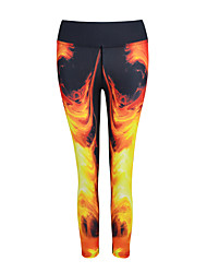 Damen Laufhosen Rasche Trocknung Atmungsaktiv Schnitt Leggins Unten für Yoga Übung & Fitness Laufen Modal Polyester Schlank S M L XL XXL