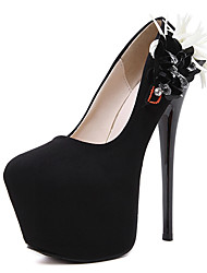 Damen-High Heels-Kleid-Vlies-StöckelabsatzSchwarz