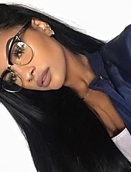 soie de couleur naturelle droite 100% bresiliens vierges perruque dentelle de cheveux humains perruques avant 8-24 pouces de densité de