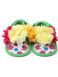 Sandals Summer First Walkers Fabric Casual Flat Heel Flower Multi-color