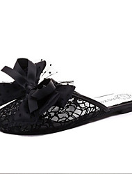 Sandals Spring Summer Fall Comfort PU Tulle Dress Casual Flat Heel Bowknot Multi-color