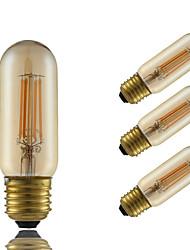 E26/E27 Ampoules à Filament LED T 4 COB 350 lm Ambre Intensité Réglable Décorative AC 100-240 V 4 pièces