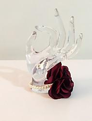 """Fleurs de mariage Rond Petit bouquet de fleurs au poignet Mariage La Fête / soirée Satin Strass 7.87""""(Env.20cm)"""