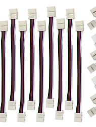 zdm 5pcs rápida divisor conector de 10 milímetros em forma de L 5 condutor para 5050 WRGB com 10pcs 5050 conector luz tira WRGB