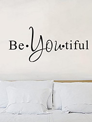 Words Be You Tiful Wall Sticker Vinyl Material Home Decoration