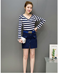 2017 spring new Korean ladies fashion skirt suit women's long-sleeved t-shirt bottoming piece skirt tide
