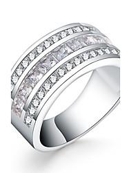 Ringe Runde Form Alltag Normal Schmuck versilbert Ring 1 Stück,7 8 Silber