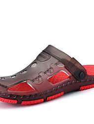 Синий Красный Темно-коричневый-Мужской-Повседневный-ПолиуретанКольцевые обувь-Сандалии