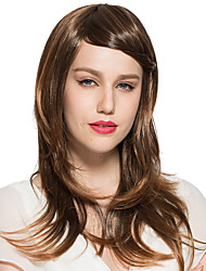 Hot Sale Kinky Straight Mid-Part Bangs Wig Synthetic Fiber Wig Hairstyle For Women