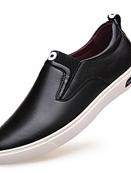 Men's Shoes Leather Spring Summer Fall Winter Comfort Fashion Boots Loafers & Slip-Ons Lace-up For Casual Outdoor Office & Career Party &