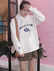 Sign Japanese Korean chic wild clownfish embroidered loose hedging plus velvet hooded sweater woman