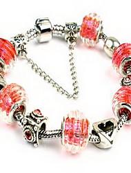 Bracelet Chain Bracelet Crystal Alloy Round Natural Friendship Fashion Party Birthday Gift Jewelry Gift White,1pc