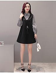 tiro real modelo na Primavera de 2017 versão coreana do novo vestido de duas crianças vestido da mola falso
