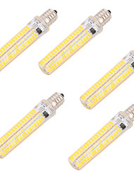 4 pc brelong regulable 8w e14 led bombillas de filamento c35 4 cob 750 lm blanco cálido blanco ac 220-240v
