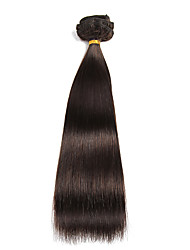 9pcs / set clipe de 120g de luxo em extensões do cabelo castanho escuro de 16 polegadas 20 polegadas 100% cabelo humano para as mulheres