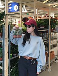 реальный выстрел! Корейским институтом ветра рыхлой дикий шик искусства экзамен тест печать вышивка с длинными рукавами, свитер