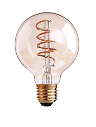 4W B22/E27  LED Soft Filament Bulbs G80 COB 400 lm Warm White Dimmable AC 220-240 AC 110-130 V