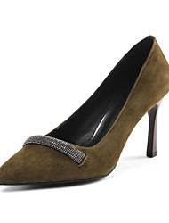 Women's Heels Spring Summer Fall Winter Club Shoes Cashmere Office & Career Dress Casual Stiletto Heel Others Black Khaki