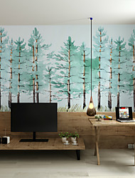 Art Deco Wallpaper For Home Wall Covering Canvas Adhesive required Mural Scandinavian Style Forest Painting style XXXL(448*280cm)
